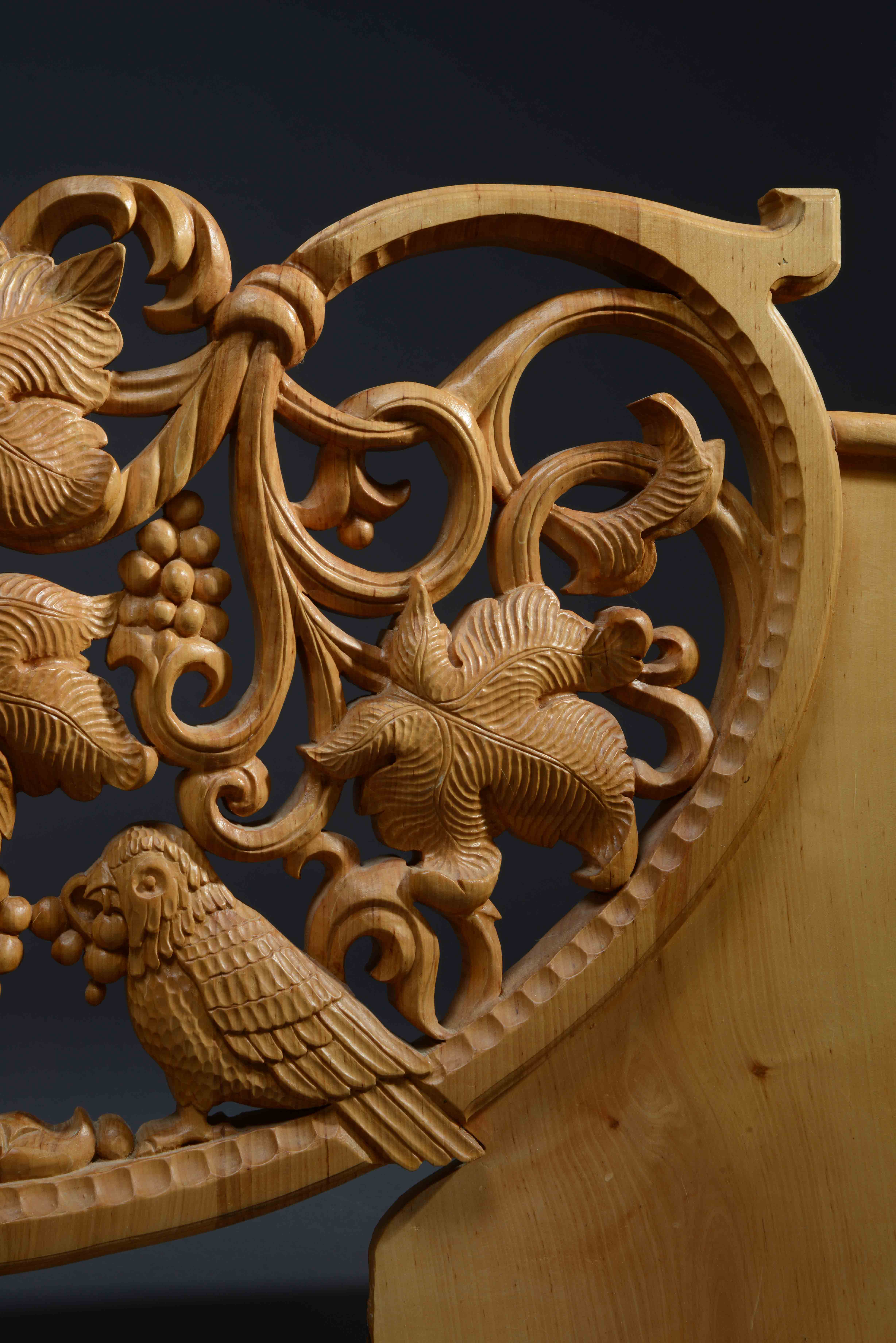 Carved Panel Bench Kitchen