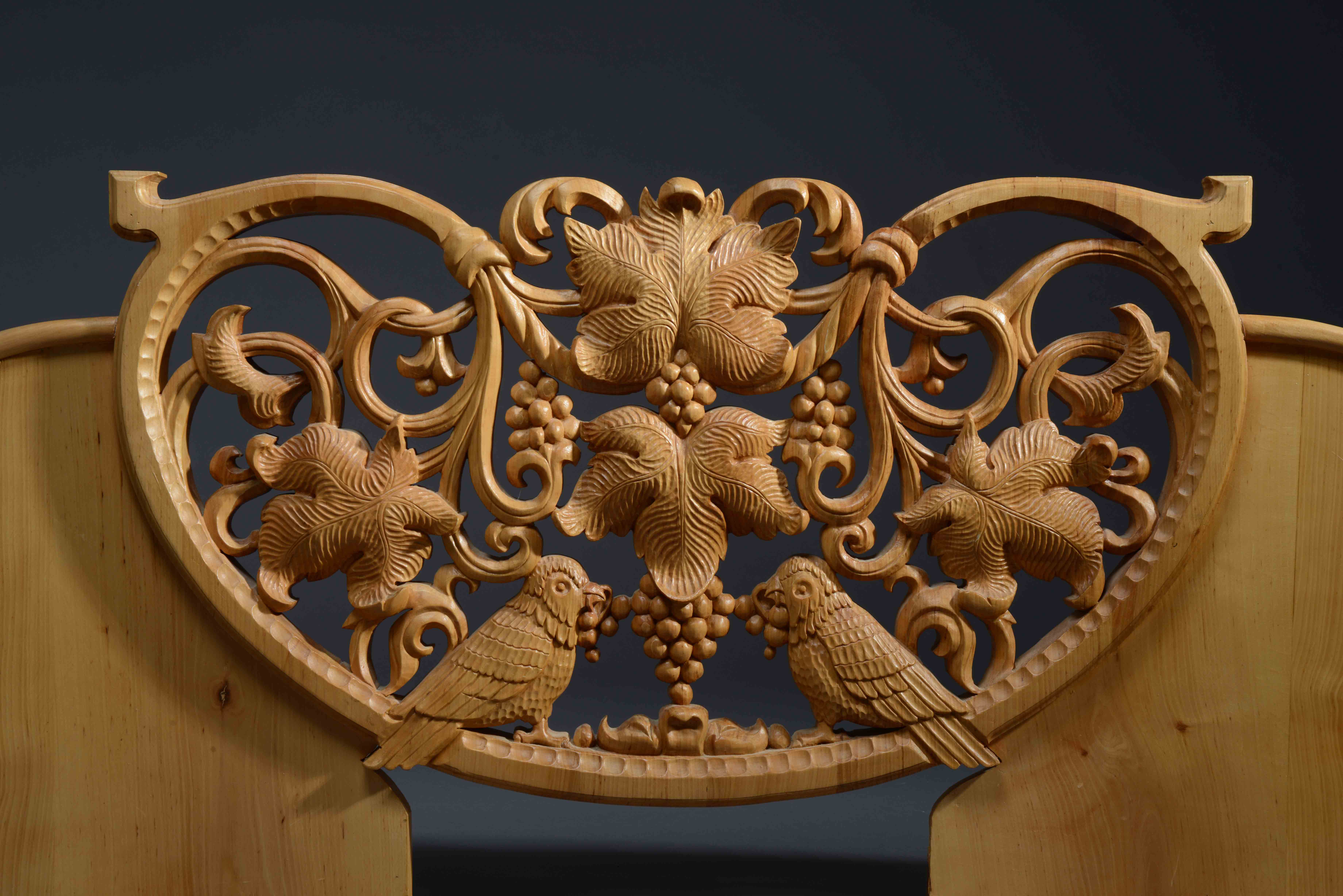 Carved Panel Kitchen Bench