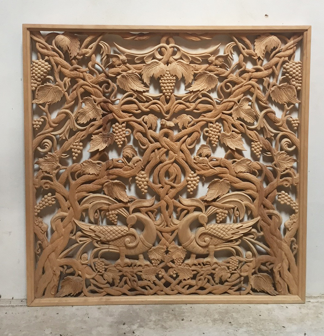 Nana Carved Panel Front