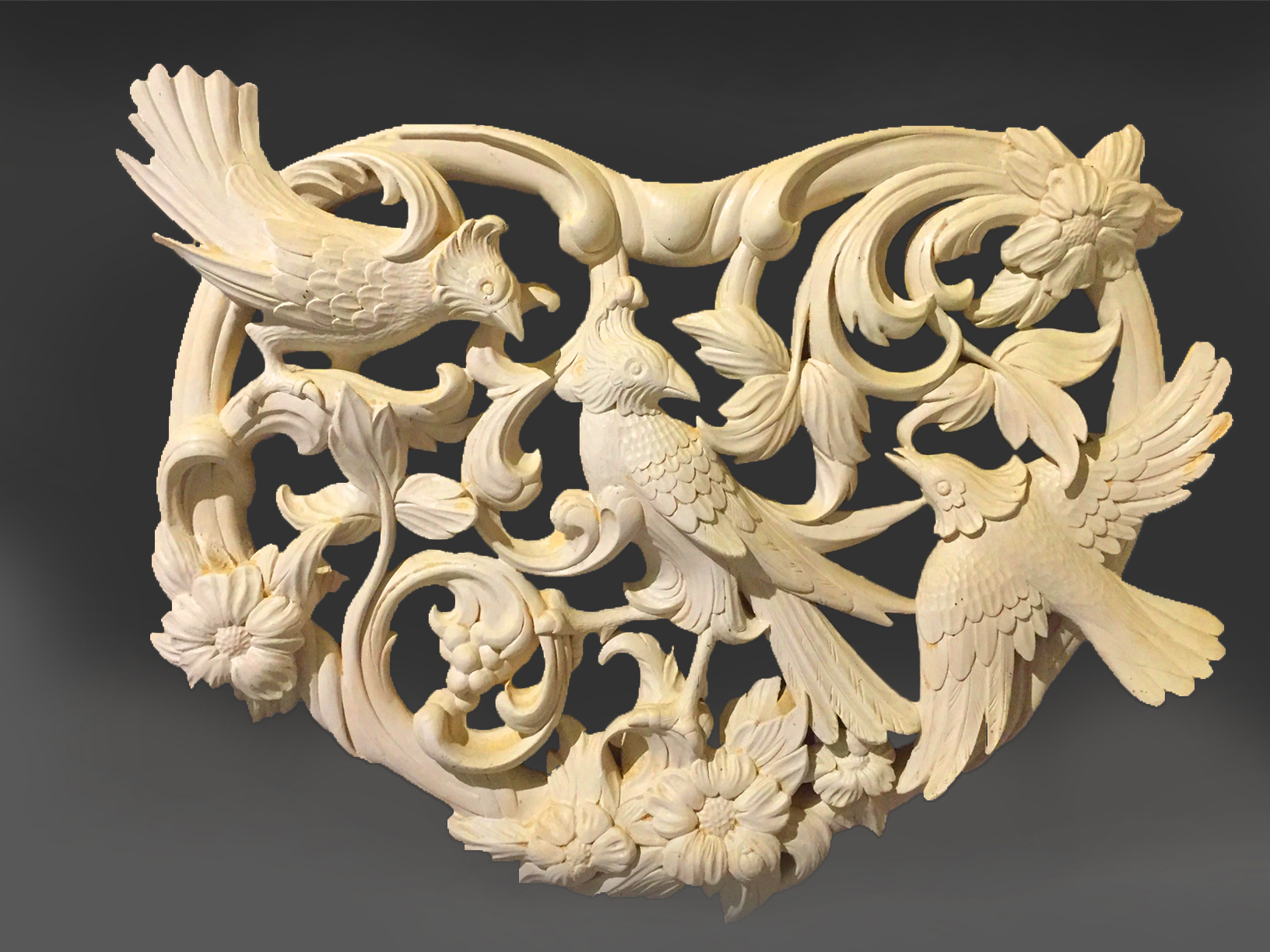 Carved Heart shaped Panel