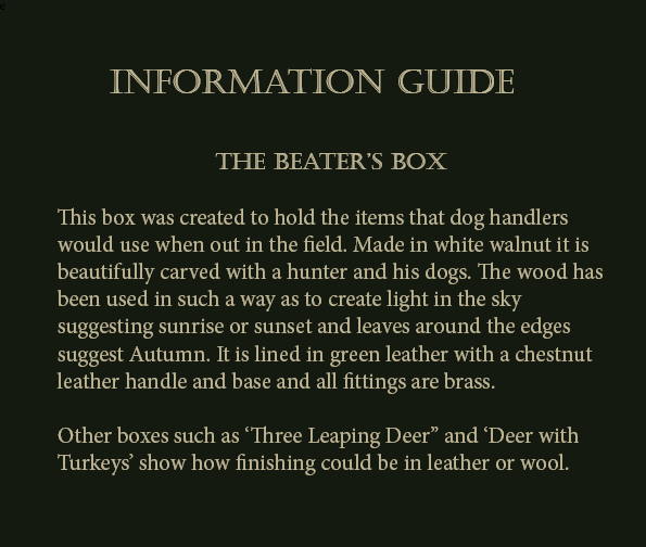Information Guide Beater's Box