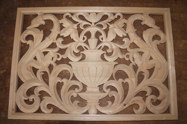 Carved Panel Two Vines