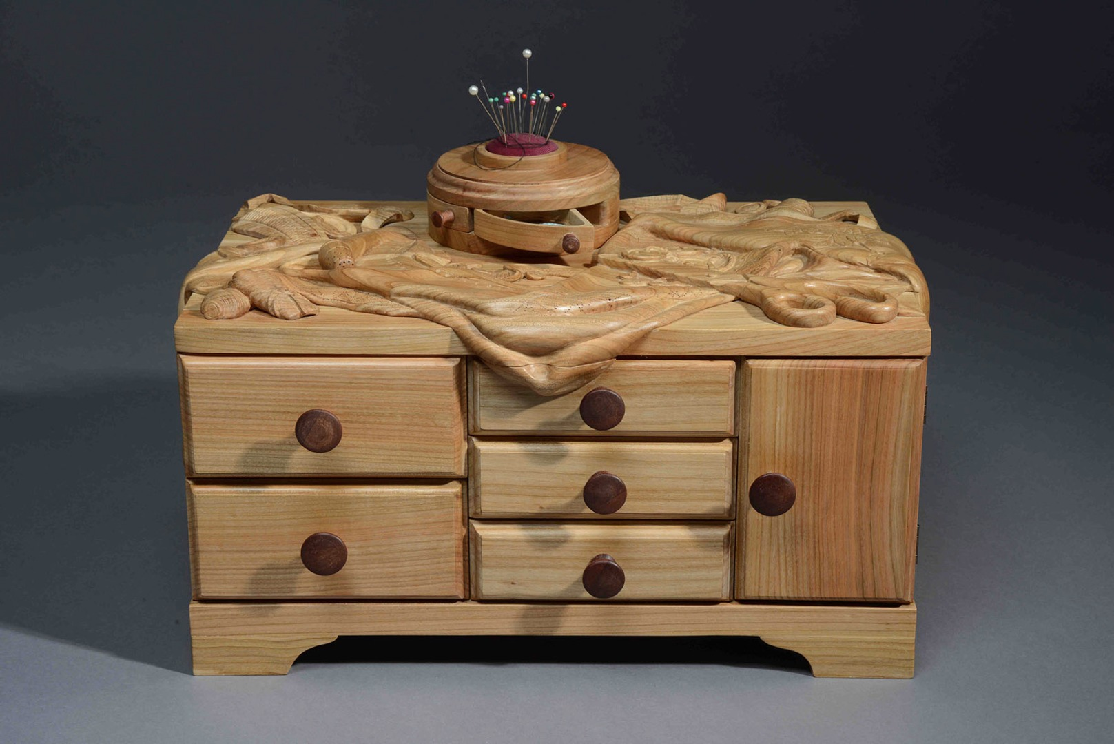 Sewing Box II in Cherry Wood