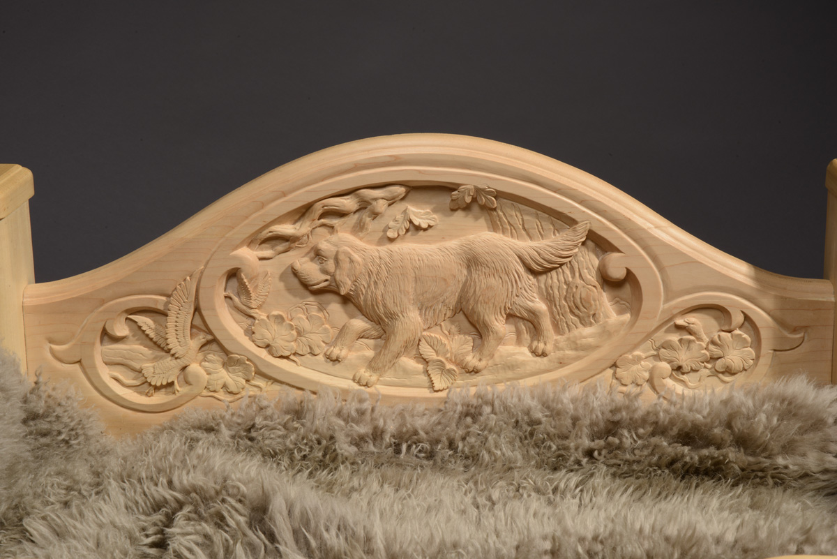 Carved Bed Dog