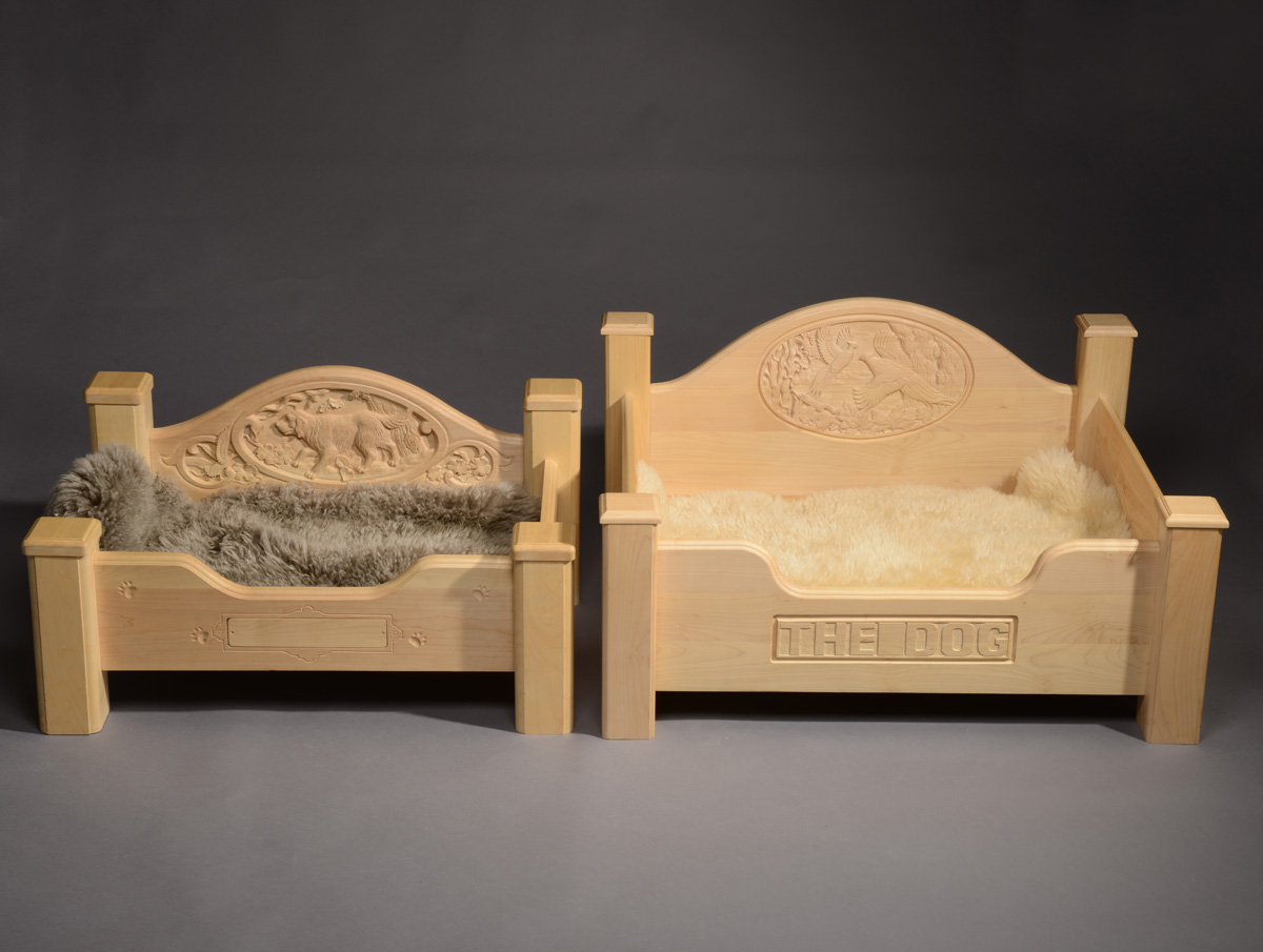Carved Dog Beds